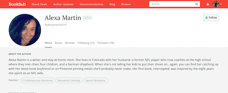 Alexa Martin BookBub Author Profile