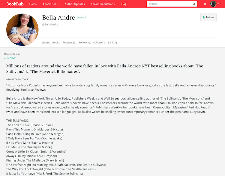 Bella Andre BookBub Author Profile