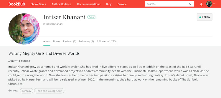 Intisar Khanani BookBub Author Profile