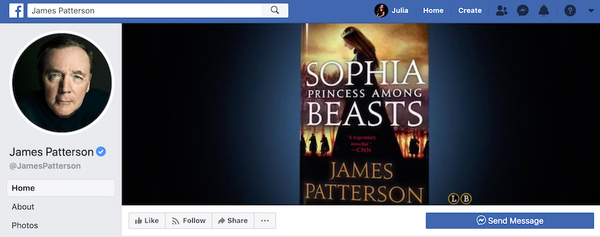 James Patterson Facebook Page