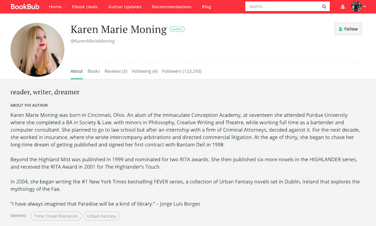 Karen Marie Moning BookBub Author Profile