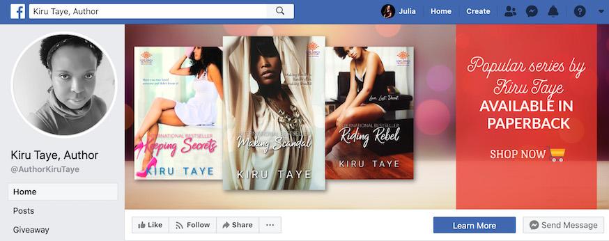 Kiru Taye Author Facebook Page