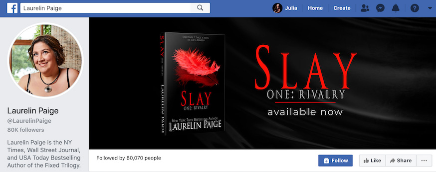 Laurelin Paige Facebook Page
