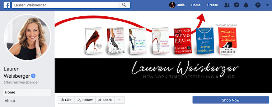 Lauren Weisberger Facebook Page