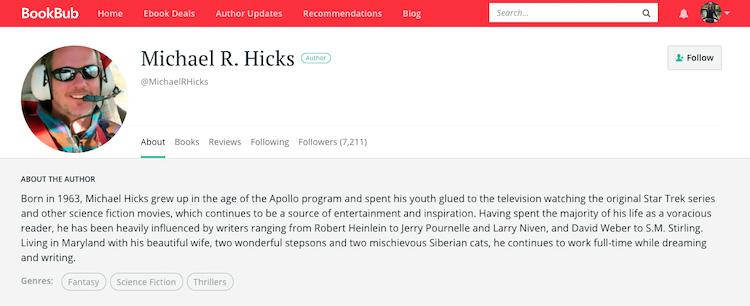 Michael R. Hicks BookBub Author Profile