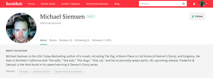 Michael Siemsen BookBub Author Profile