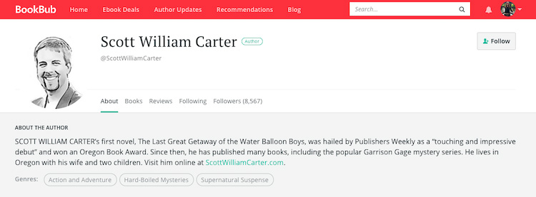 Scott William Carter BookBub Author Profile