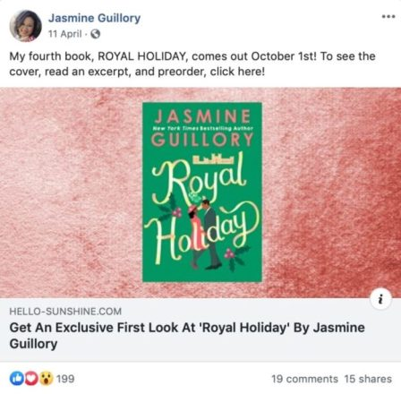 Ways Authors Use Facebook Holiday Post