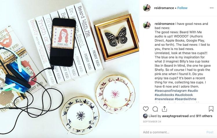 Penny Reid instagram audiobook ad
