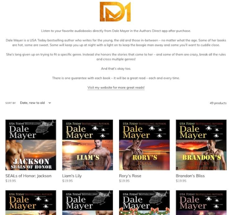 Dale Mayer audiobook library