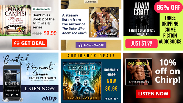 Audiobook ads on BookBub