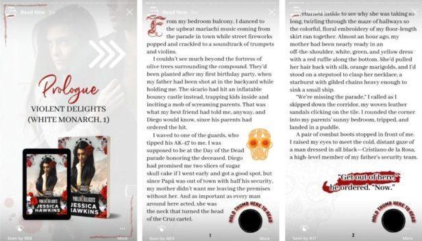 Jessica Hawkins book excerpt on instagram stories