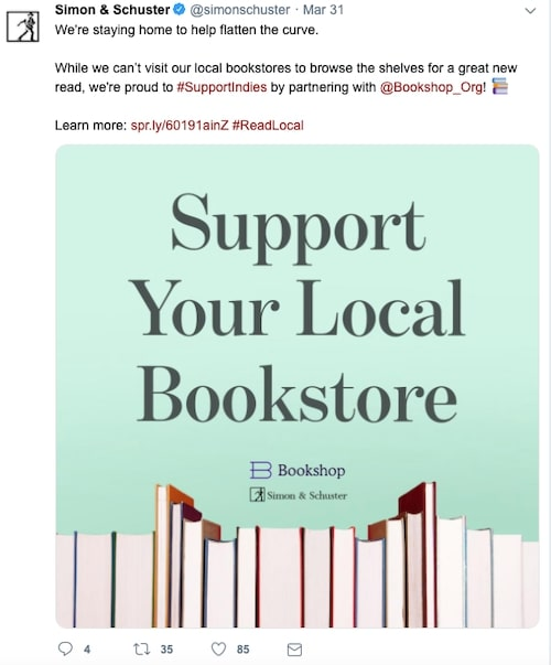 Simon & Schuster partnered with Bookshop.org