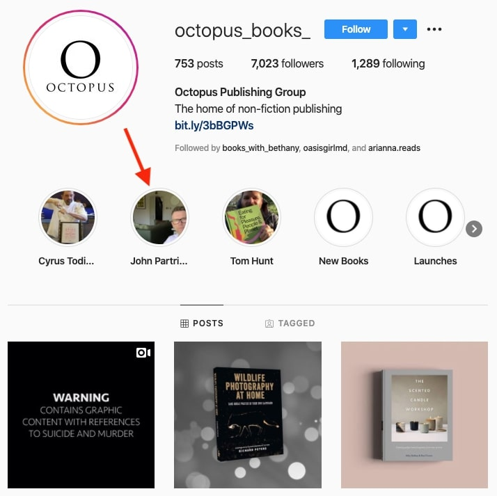 Octopus Publishing meet the author over instagram live