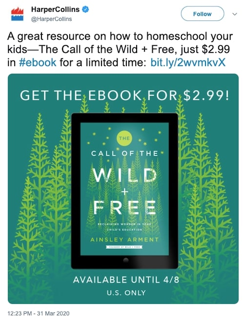 The Call of the Wild and Free from HarperCollins