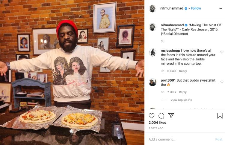 Hanif Abdurraqib cooking at home during covid-19