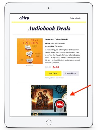 Audiobook Deals Tablet