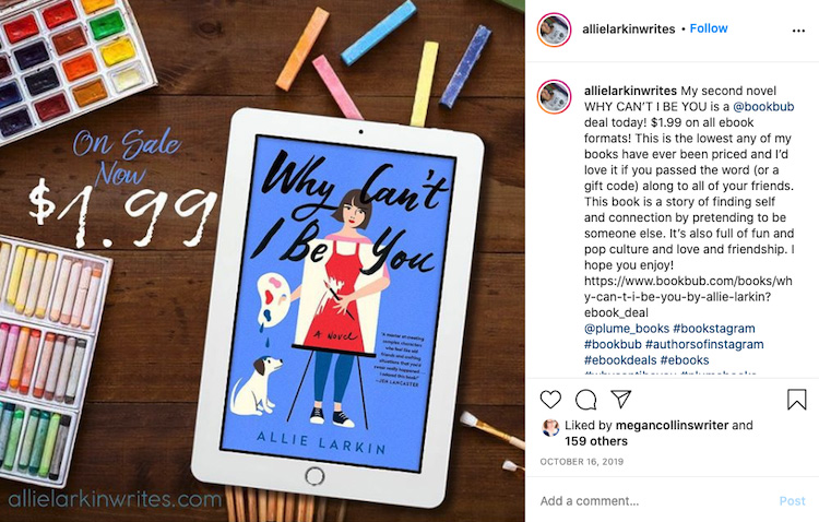 Instagram BookBub Deal Alert
