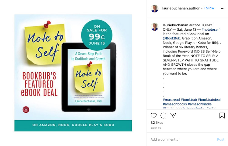 Instagram BookBub Deal Post