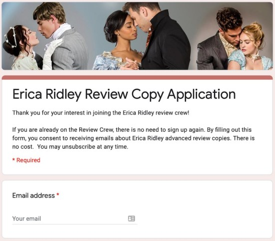 Review Copy Application
