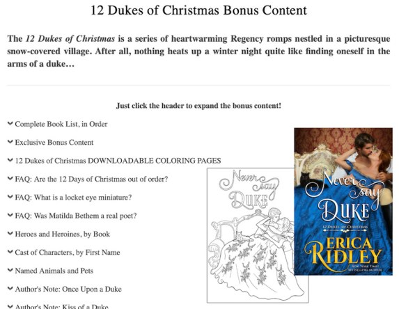 Author Website Bonus Content Page