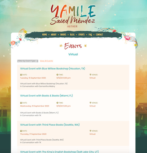 Virtual Tour Schedule