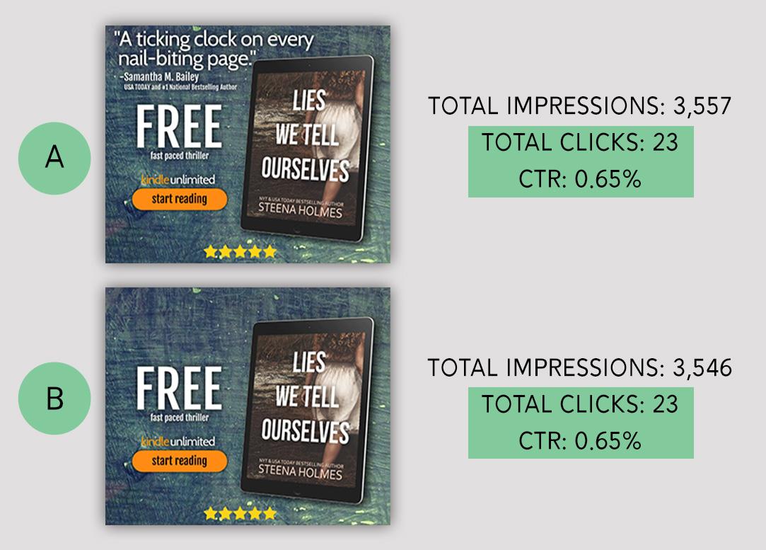 Author Blurb BookBub Ads Test