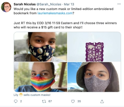 Author Mask Giveaway