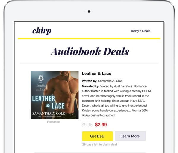 Erotic Romance Chirp Deal