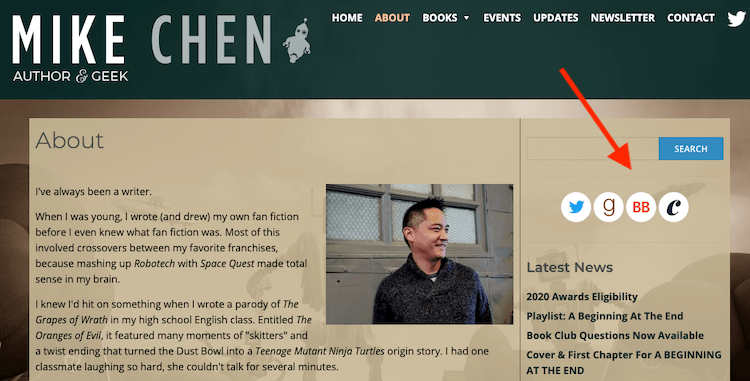 Author Mike Chen's website