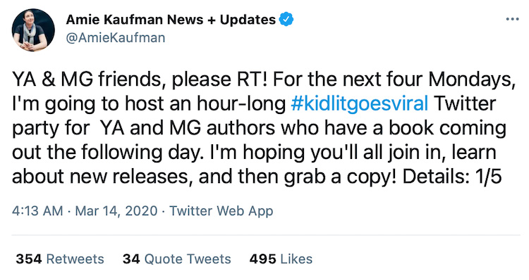Host Author Twitter Chats 1