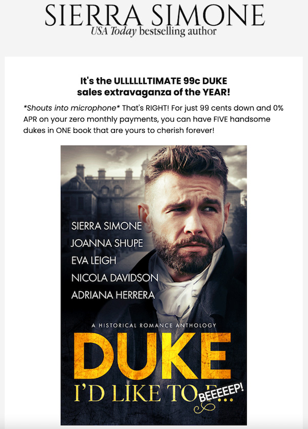 Sierra Author Deal Newsletter