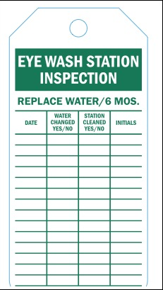 eye wash station inspection forms. Black Bedroom Furniture Sets. Home Design Ideas