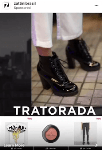 Instagram Collection Ads Realidad Aumentada