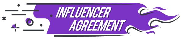 Influencer agreement