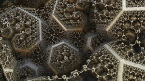photograph of complex fractal