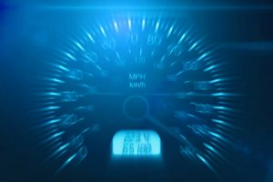 blurred speedometer racing