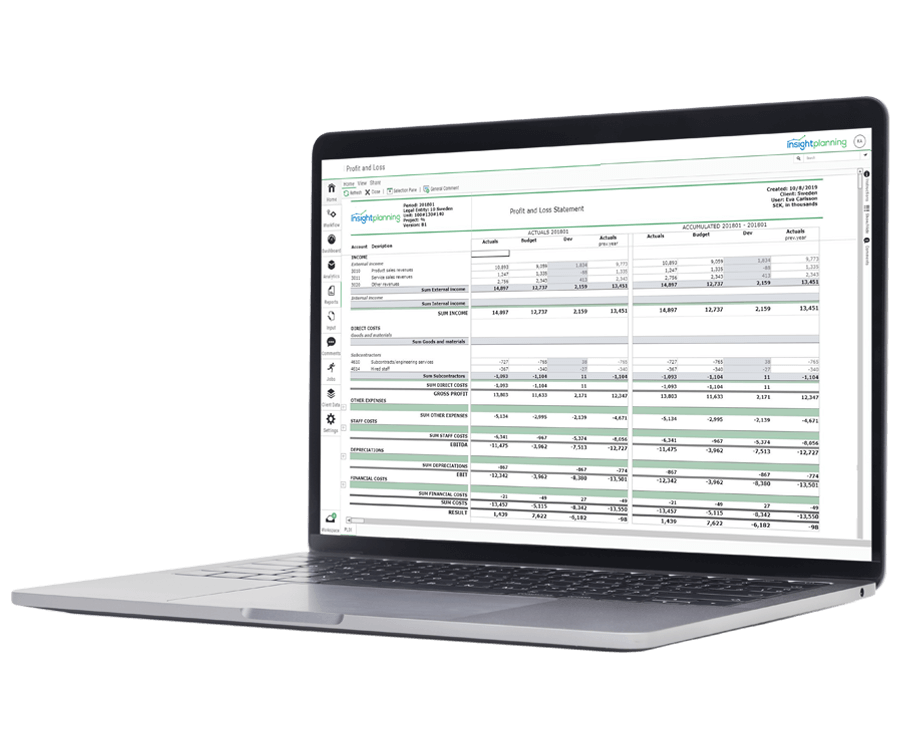 insightplanning Real Time Reports