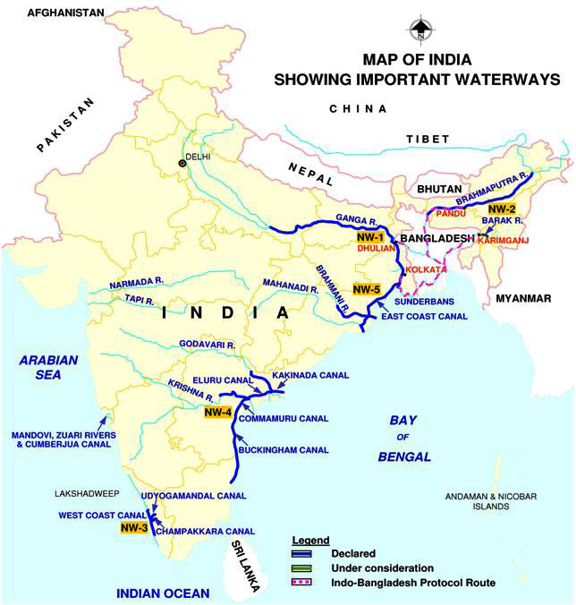 National Inland Waterways Of India Maps And Details INSIGHTS - Us inland waterways map