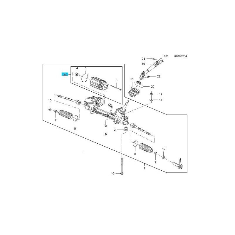 Silnik przekładni kierowniczej, wspomagania INSIGNIA 2013