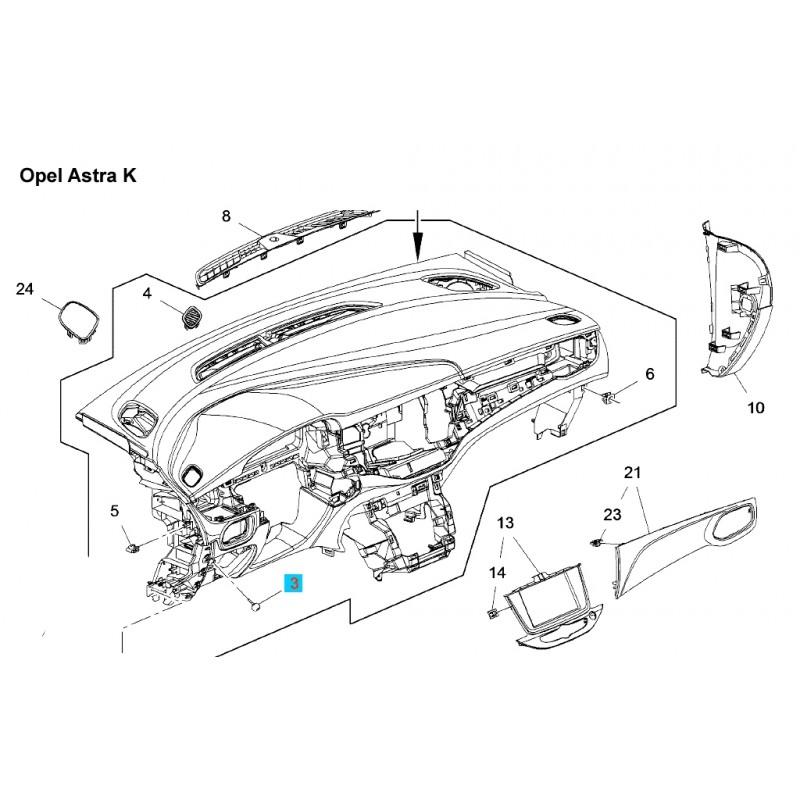 Odbój gumowy GM13325584 (Opel Astra J,K, Cascada, Insignia