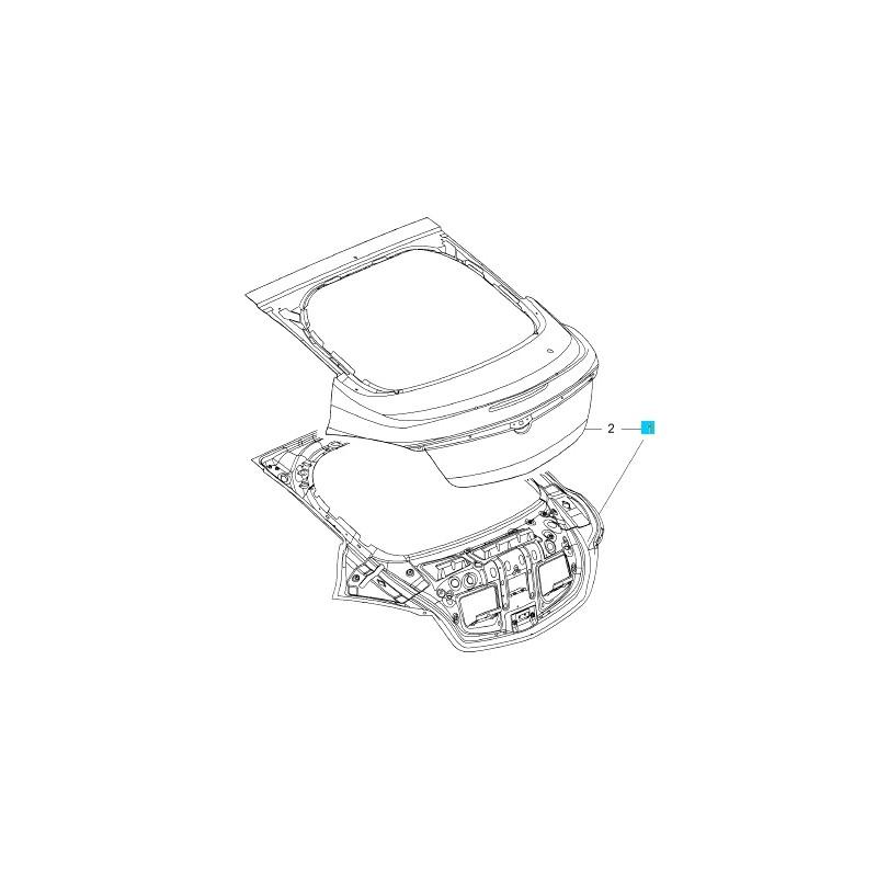 Klapa, drzwi bagażnikowe GM13310763 (Opel Insignia