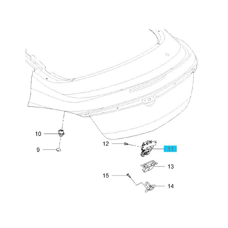 Zamek zespolony pokrywy bagażnika GM20969620 (Opel