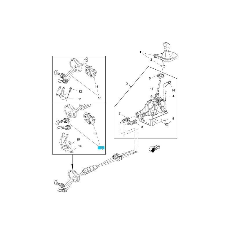 Linka zmiany biegów GM55577542 (Opel Insignia 2.0 manual