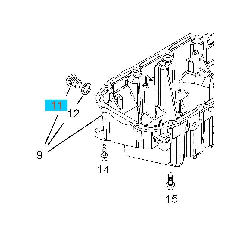 Korek spustowy miski olejowej GM55588255 (Opel Astra H,J