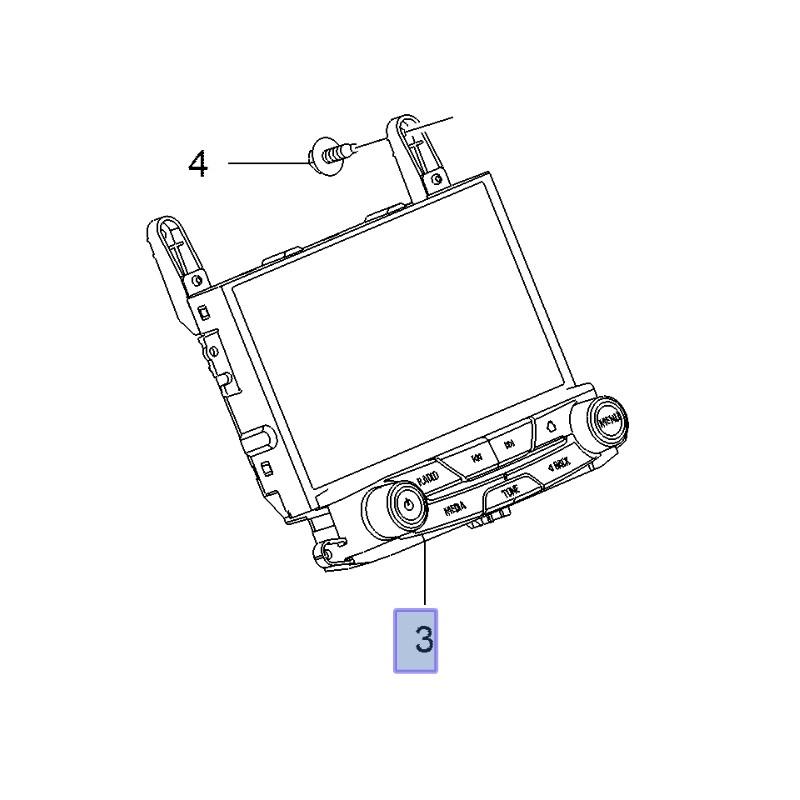 Wyświetlacz z gałkami RF700 TOUCH, RF900 NAVI 26202389