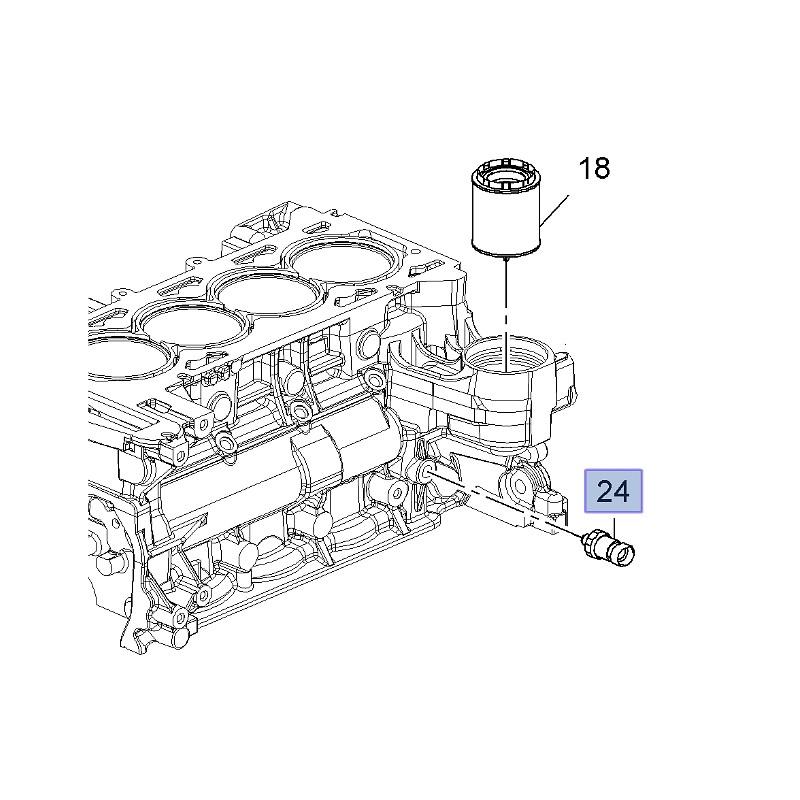 Czujnik ciśnienia oleju 2.0 / 2.2 12635992 (Antara, Astra