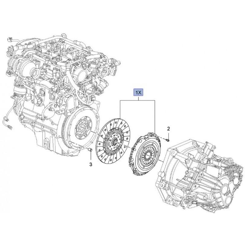 Zestaw sprzęgła skrzyni manualnej 55582604 (Opel Insignia