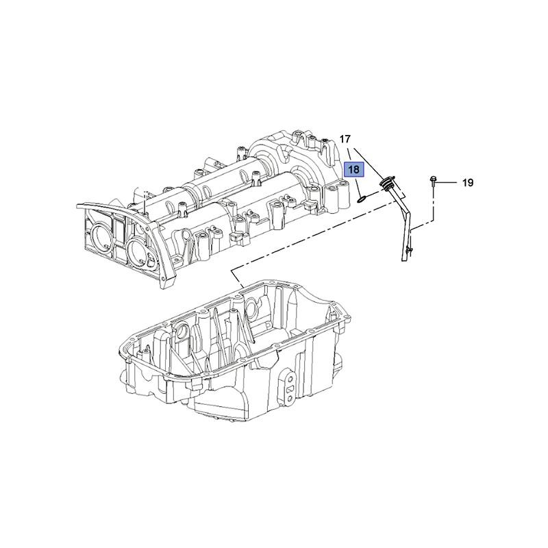 Uszczelka rury wentylacyjnej silnika 55575125 (Astra J