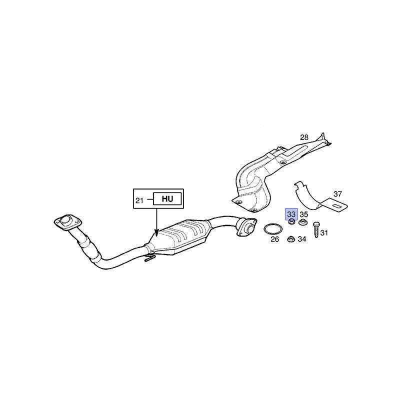 Nakrętka sześciokątna rury wydechowej 90570845 (Astra G, H